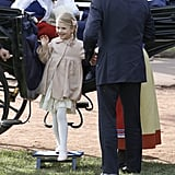 Princess Estelle Leaves a Carriage in Style