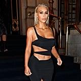 Kim Kardashian Wearing Cutout Dress