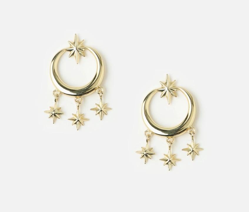 Orelia Starburst Chandelier Earrings