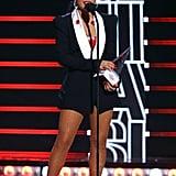 Becky G accepting her award