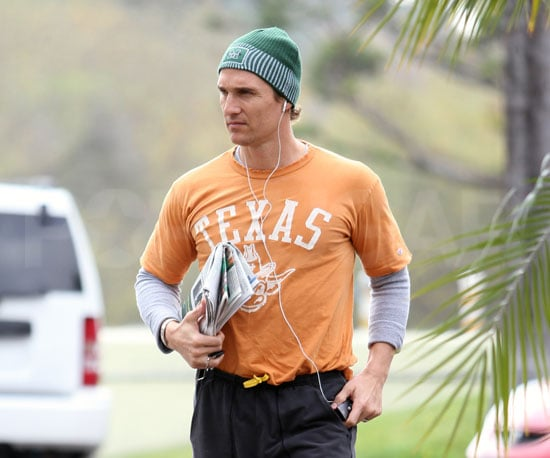 Slide Photo of Matthew McConaughey Going to the Gym