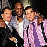 Scott Disick, Lamar Odom, and Robert Kardashian were there to celebrate with Kris Humphries.