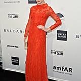 Ginta Lapina at amfAR's New York Gala.