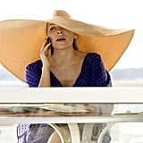 This is not your average floppy beach hat. For Samantha, it's go big or go home.
