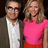 Brooklyn Decker posed with Eugene Levy at CinemaCon in Las Vegas.
