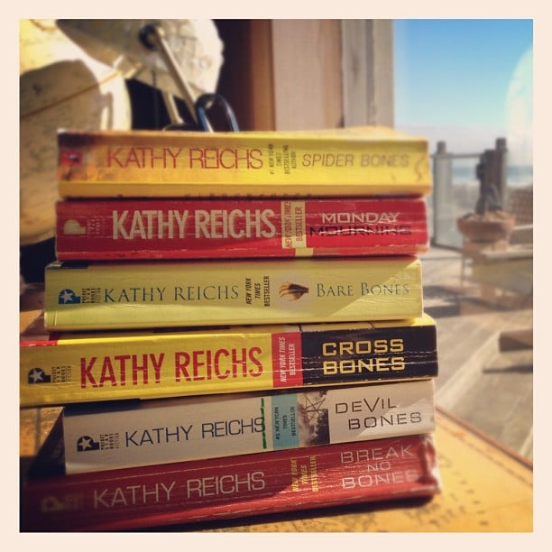 I brought along Kathy Reichs's Temperance Brennan series for a beach vacation.