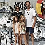 The family visited the Alfos boat during a sailing event in August.