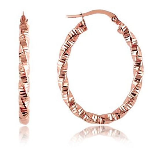 Forzieri Twisting 14K Oval Hoops, $264