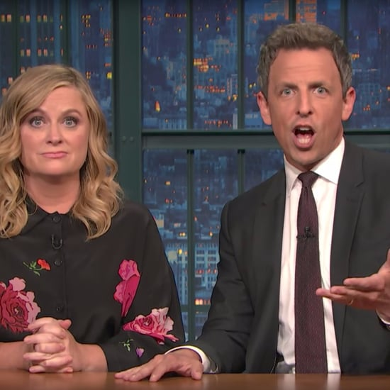 Seth Meyers and Amy Poehler on Julius Caesar Protests