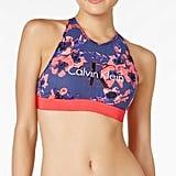 Calvin Klein Low-Impact Retro Logo Bralette QF1642