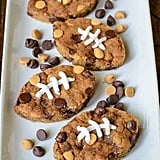 Football Peanut Butter Blondies