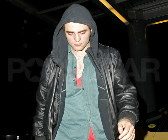 Slide Photo of Robert Pattinson Out in Vancouver with Hoodie