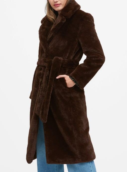 Faux Fur Long Coat