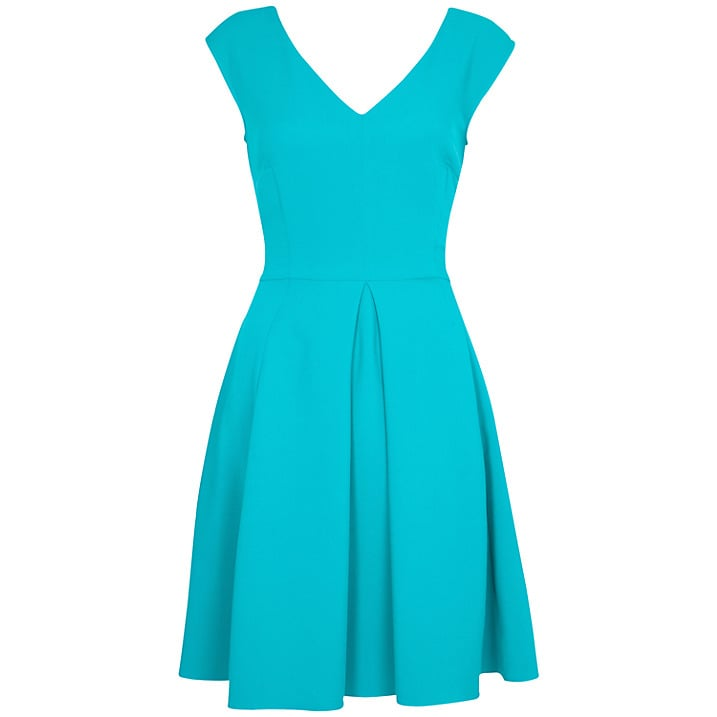 Closet v-neck turquoise full-skirted dress (£48)