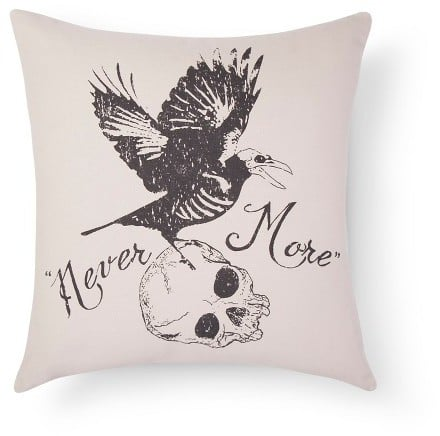 Halloween Never More Pillow ($20)