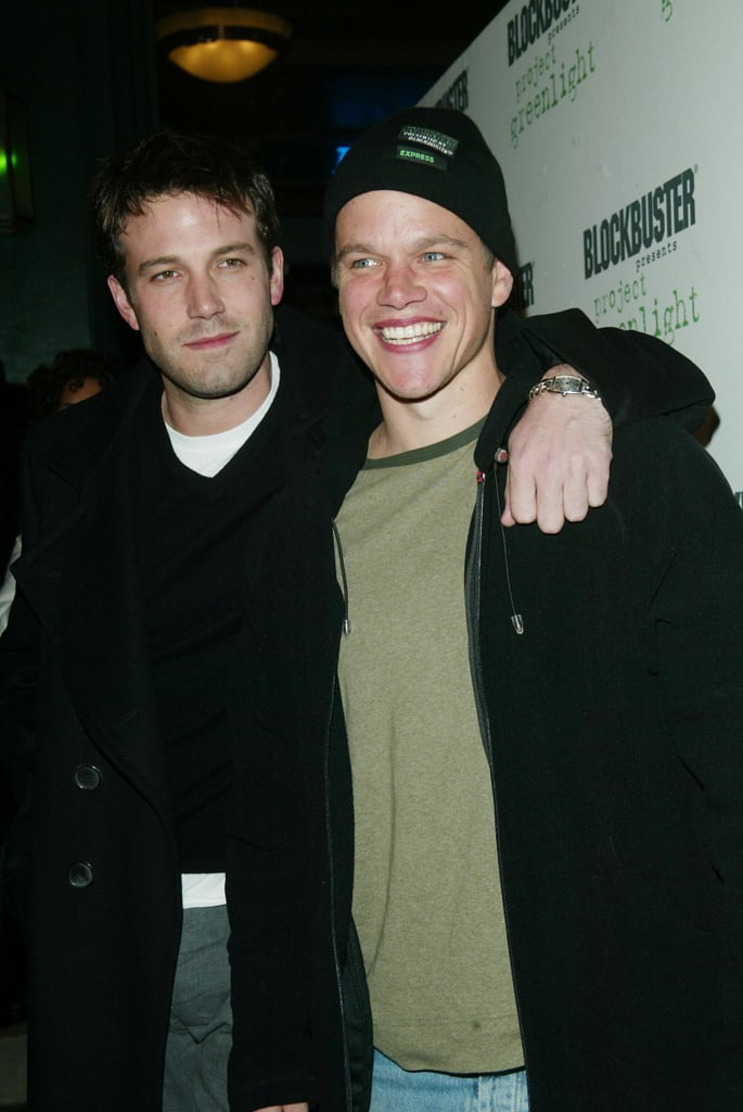 Ben Affleck and Matt Damon arrived at the Project Greenlight winners announcement party at the 2003 Sundance Film Festival.
