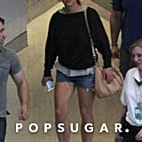 Britney Spears walked through the Las Vegas airport.