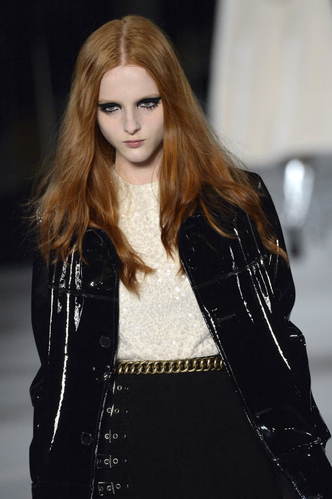 Hair and Makeup Saint Laurent Fall 2014 Paris Fashion Week