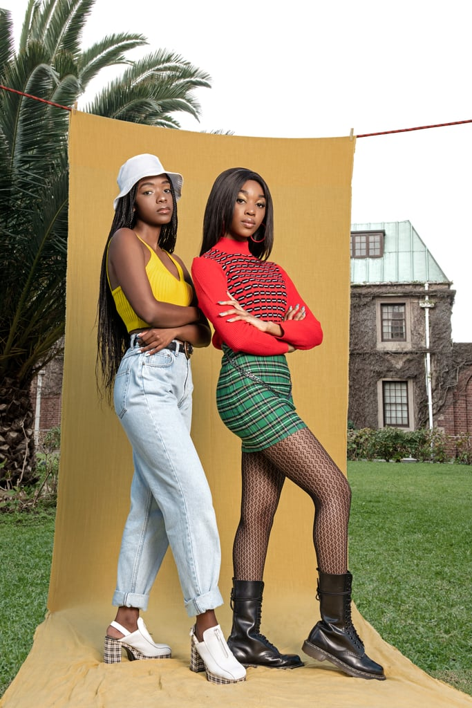 """Ama Qamata and Khosi Ngema star as long-lost sisters Puleng and Fikile, respectively, on Netflix's South African teen drama series Blood & Water. While their onscreen relationship is more than complicated, to say the least, thanks to the show, Ama and Khosi have actually developed a sisterly bond in real life. For Khosi's 21st birthday this past November, Ama posted a sweet tribute on her Instagram Stories, writing, """"Thank you for being an incredible friend, sister & colleague. I love you fore a mama."""" And in case you haven't seen yet, they have a couple of cute TikTok videos together. In honour of the second season of Blood & Water, see some of Ama and Khosi's sweetest moments ahead."""