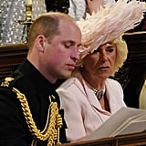 William and Camilla sat together during Harry and Meghan Markle's wedding in May 2018.
