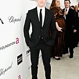 Chris Colfer stepped out for Elton John's Oscar party in LA.