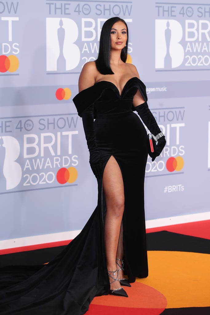 Maya Jama at the 2020 BRIT Awards