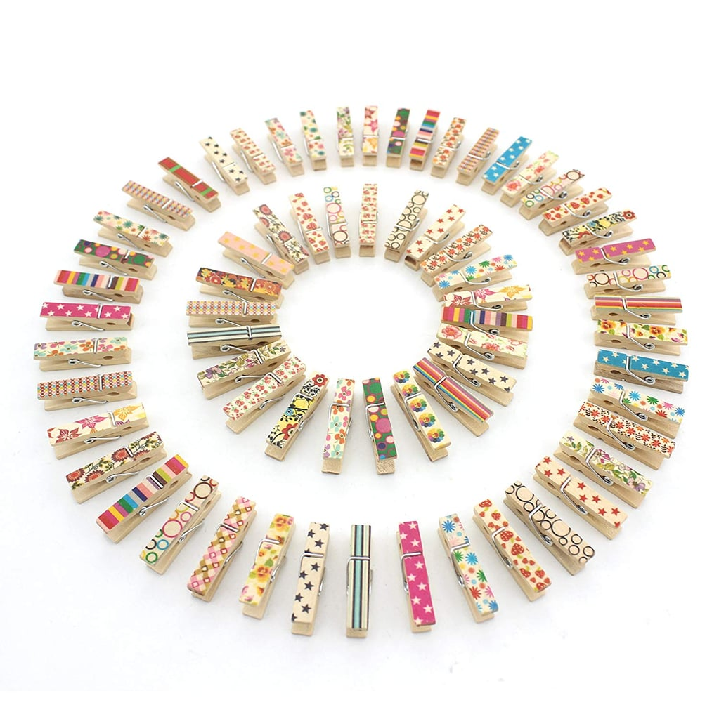 Printed Wooden Clothespins (100 pieces)