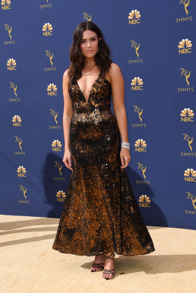 Mandy Moore Gold Rodarte Dress at the 2018 Emmys | POPSUGAR Fashion