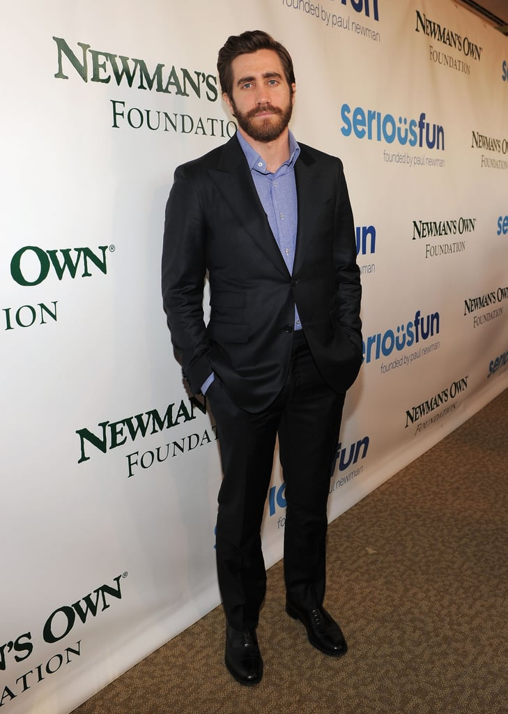 Jake Gyllenhaal was at the Lincoln Center in NYC to support Paul Newman's cause.