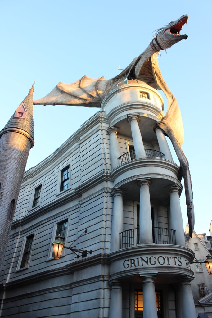 The Gringotts ride has subtle differences depending on when you ride it.