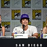 Pictured: Marie Avgeropoulos, Bob Morley, and Eliza Taylor.