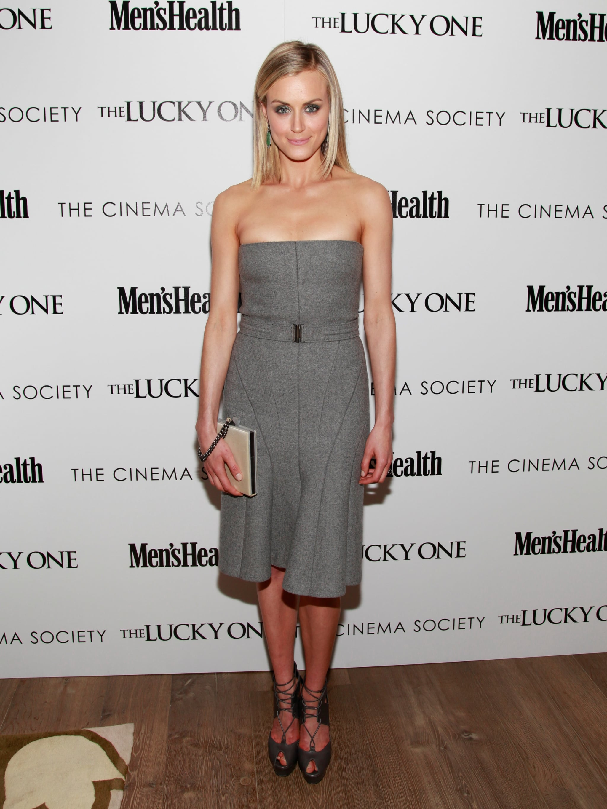 In a polished strapless dress and lace-up heels, Taylor hit the red carpet for a screening of The Lucky One in 2012.