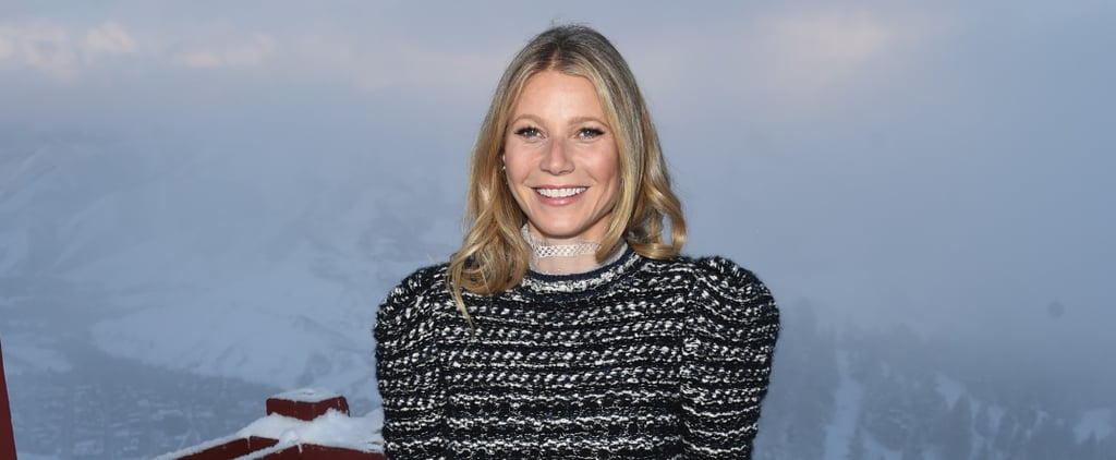 Holy Moly — We're So in Love With Gwyneth Paltrow's Floral Net Booties