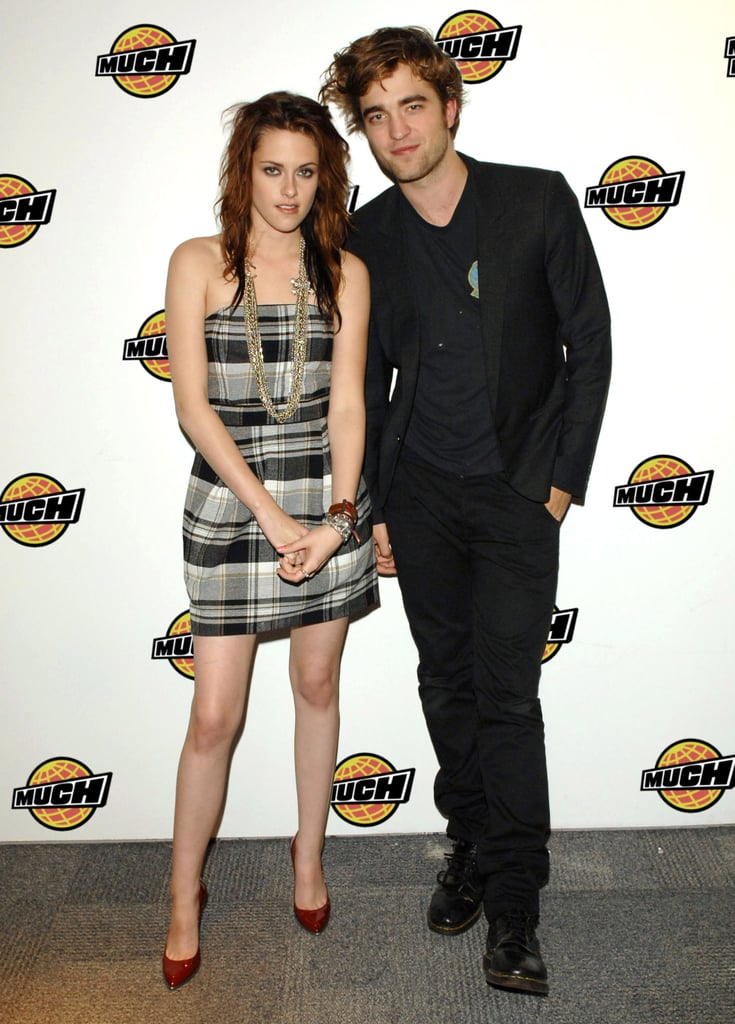 Robert Pattinson and Kristen Stewart stuck together during a visit to Toronto in 2008.