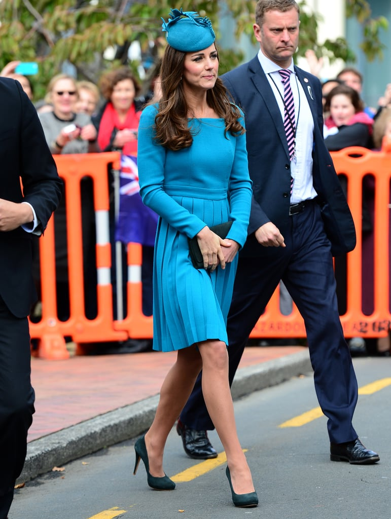 Kate Middleton Wearing Blue