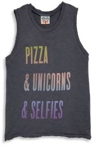 Pizza, Unicorn & Selfies Tank Top