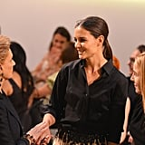 Katie Holmes was in attendance to honour Carolina Herrera at the Style Awards.