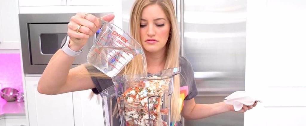 You Can't Unsee This Girl Blending an Entire Frozen Pizza in a Vitamix