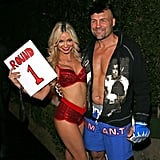 In 2014, martial artist and actor, Randy Couture, showed some skin as a fighter, while his companion played an adoring ring girl during their night out in LA.  Related70 Mind-Blowing DIY Halloween Costumes For Women