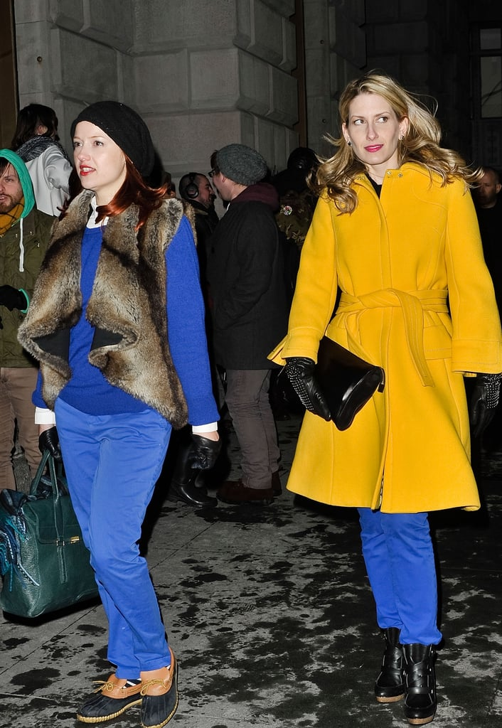 Our fashion news editor Christina Pérez and fashion and beauty director Melissa Liebling-Goldberg were (unintentionally) perfectly coordinated in primary hues.