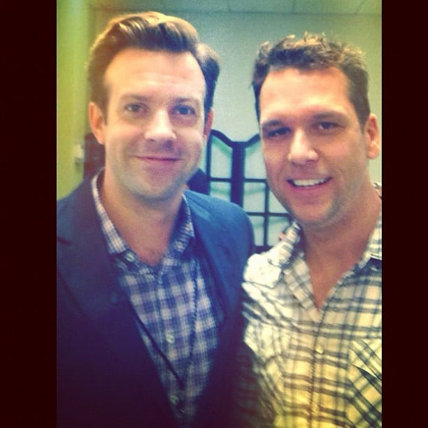 Jason Sudeikis and Dane Cook posed together at a charity event. Source: Instagram user danecook