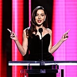 Aubrey Plaza at the 2020 Spirit Awards