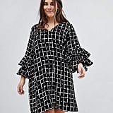 Lovedrobe Print Swing Dress With Layered Frill Sleeves