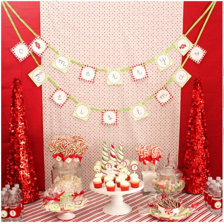 Candy Christmas Dessert Table