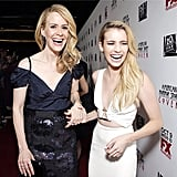 American Horror Story: Coven may be scary, but costars Sarah Paulson and Emma Roberts were anything but. Source: Instagram user emmaroberts6