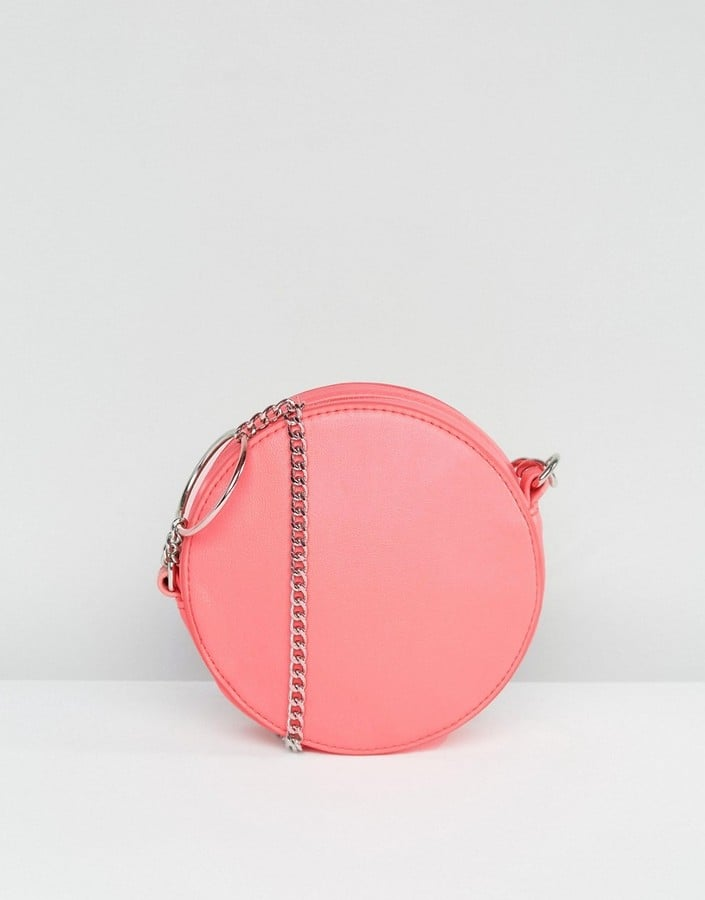 ASOS Round Crossbody Bag With Ring Detail Chain