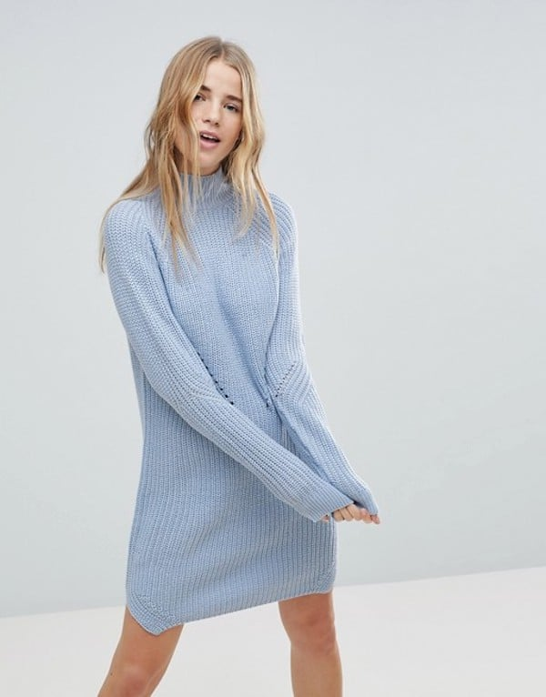 Byoung Cable Knit Sweater Dress Blake Lively Wearing A Sweater