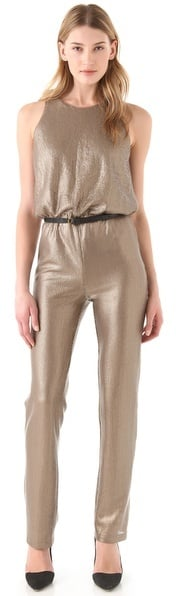 Make a sexy statement with BCBGMAXAZRIA's Lowe Sequin Jumpsuit ($298).