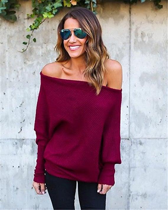 ABD Off-the-Shoulder Sweater