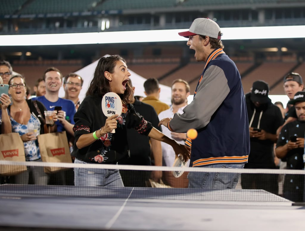 "When it comes to ping pong, Ashton Kutcher and Mila Kunis mean business. The adorable couple recently attended the sixth annual PingPong4Purpose Tournament at Dodger Stadium on Thursday, and didn't hold back when they faced off against Dodgers pitcher Clayton Kershaw. Based on their hilarious reactions, they really got into the zone. In addition to showing how great of a team they are, the pair also took some time to walk the red carpet for the event as they posed alongside Clayton and his wife Ellen and actor Matthew McConaughey. Ashton and Mila really are the perfect ""match."" Get it? See all the photos from their latest outing ahead!"